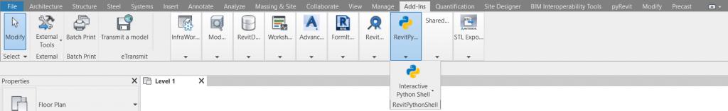 Revit Python Sheel in Toolbar