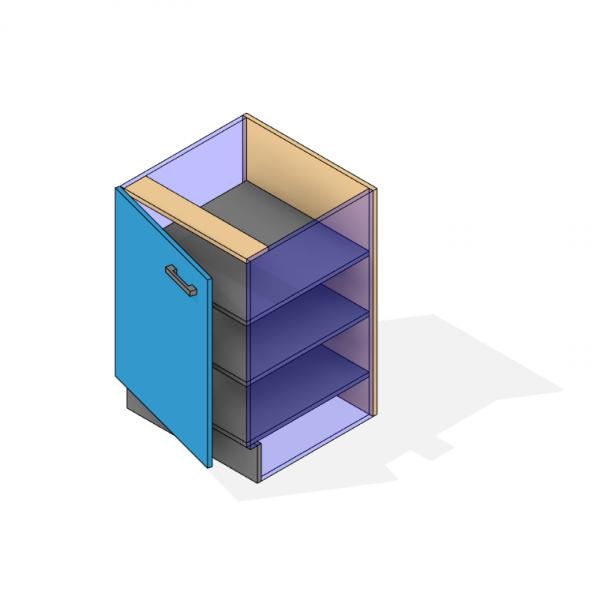 Under bench Cupboard Revit 3D Consistent Color