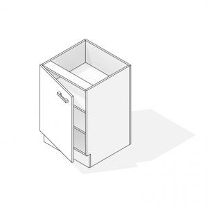 Under bench Cupboard Revit 3D Hidden Lines