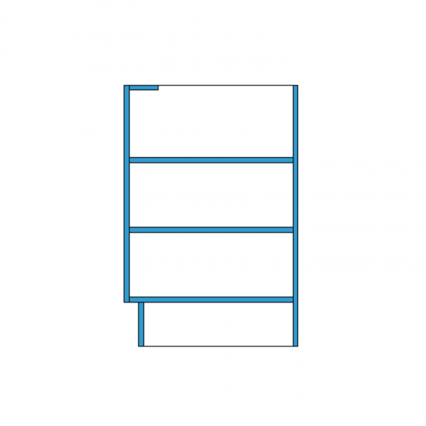 Under bench Cupboard Revit Section Hidden Lines