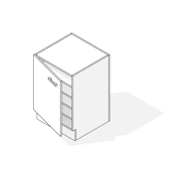 Under bench Cupboard Top Panel Revit 3D Hidden Lines