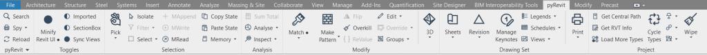 pyRevit Toolbar