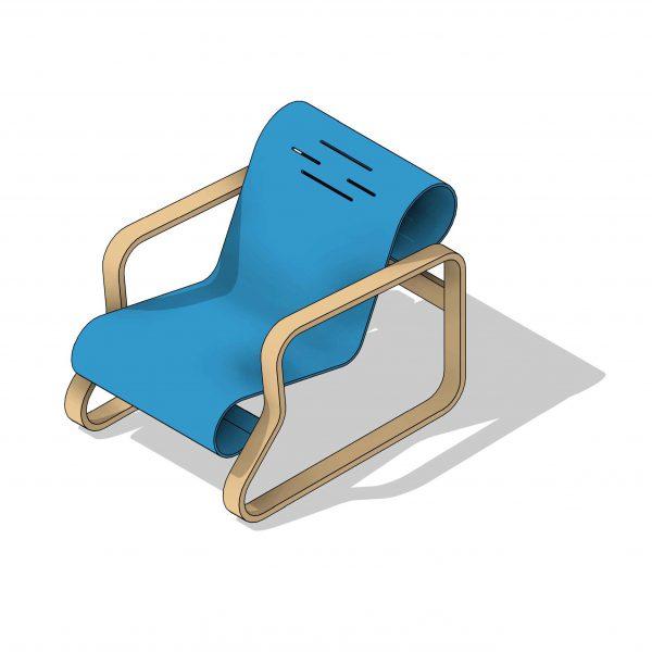 BIMicon_Aalto Paimio Armchair 3D Consistent Colors