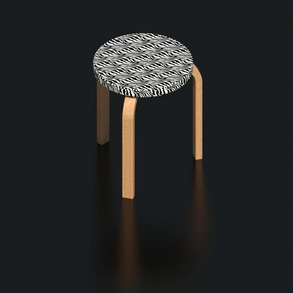 BIMicon_Aalto Stool 60 3D Rendered