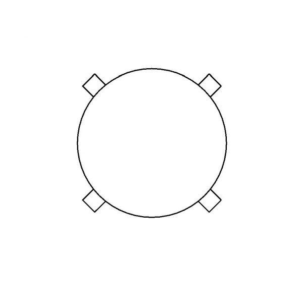 BIMicon_Aalto Stool E60 Plan Hidden Line
