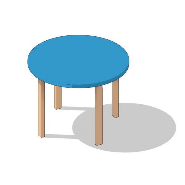 BIMicon_Aalto Table Round 3D Consistent Colors