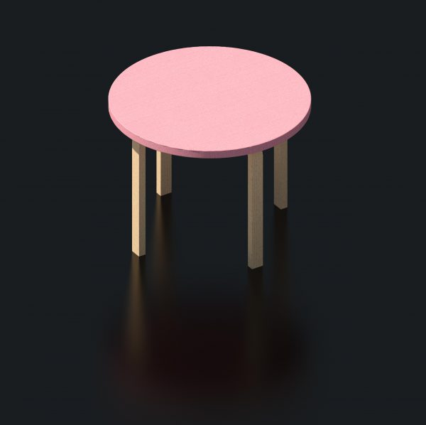 BIMicon_Aalto Table Round 3D Rendered
