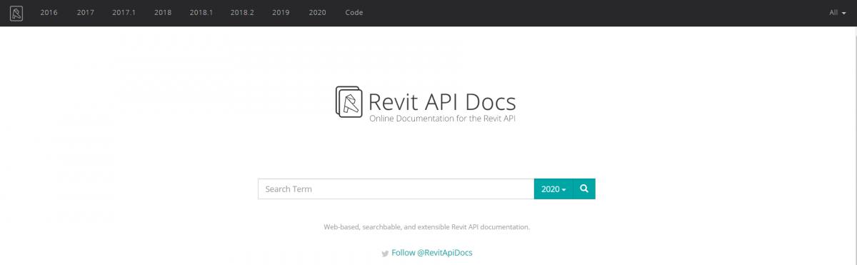Revit API Docs website