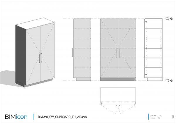 BIMicon_CW_CUPBOARD_FH_2 Doors