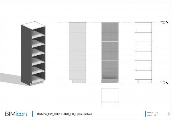 BIMicon_CW_CUPBOARD_FH_Open Shelves