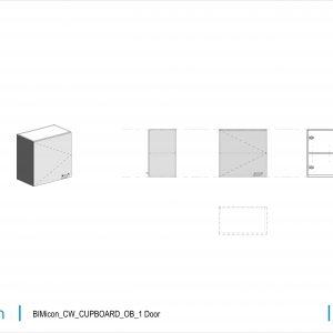 BIMicon_CW_CUPBOARD_OB_1 Door