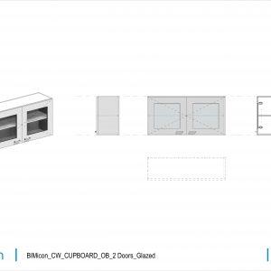 BIMicon_CW_CUPBOARD_OB_2 Doors_Glazed