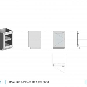 BIMicon_CW_CUPBOARD_UB_1 Door_Glazed
