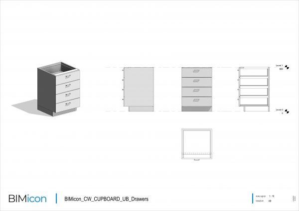 BIMicon_CW_CUPBOARD_UB_Drawers
