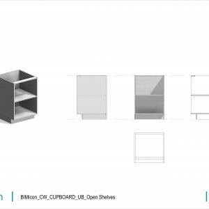 BIMicon_CW_CUPBOARD_UB_Open Shelves