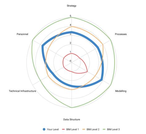 BIM Level Assessment Graph
